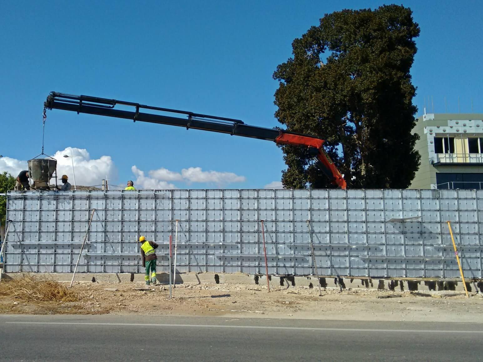 proyecto muro perimetral encofrados de aluminio construccion strong forms alicante 11
