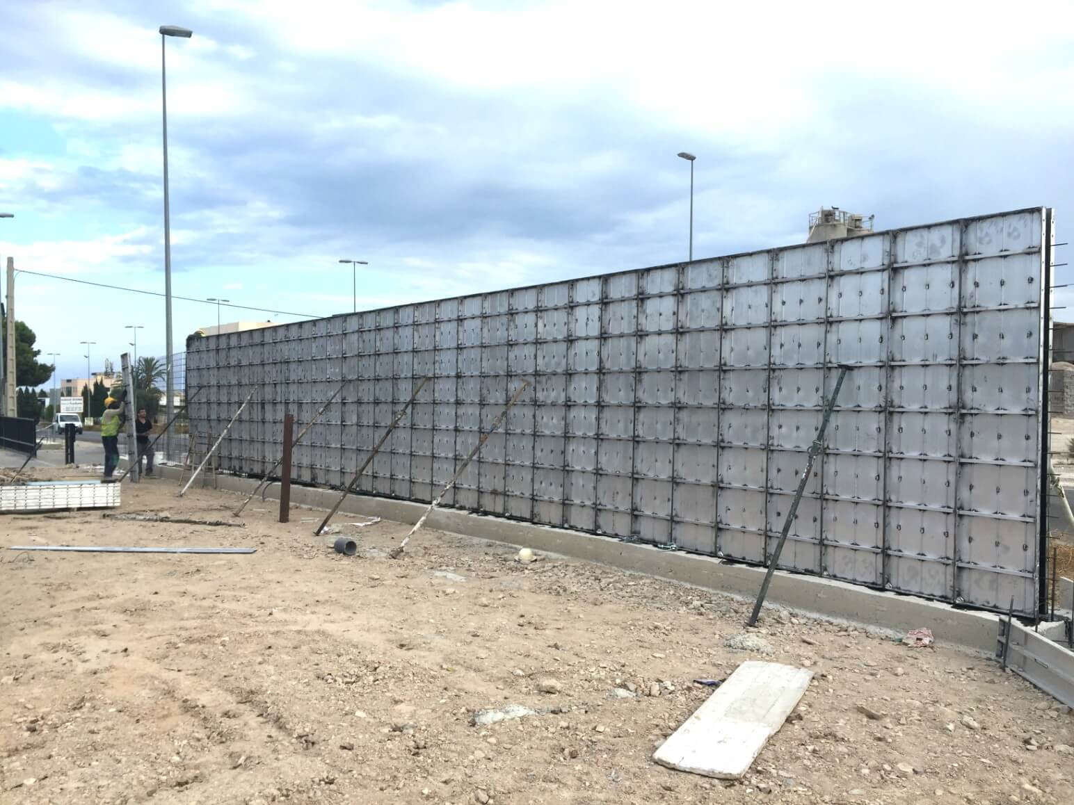 proyecto muro perimetral encofrados de aluminio construccion strong forms alicante 7