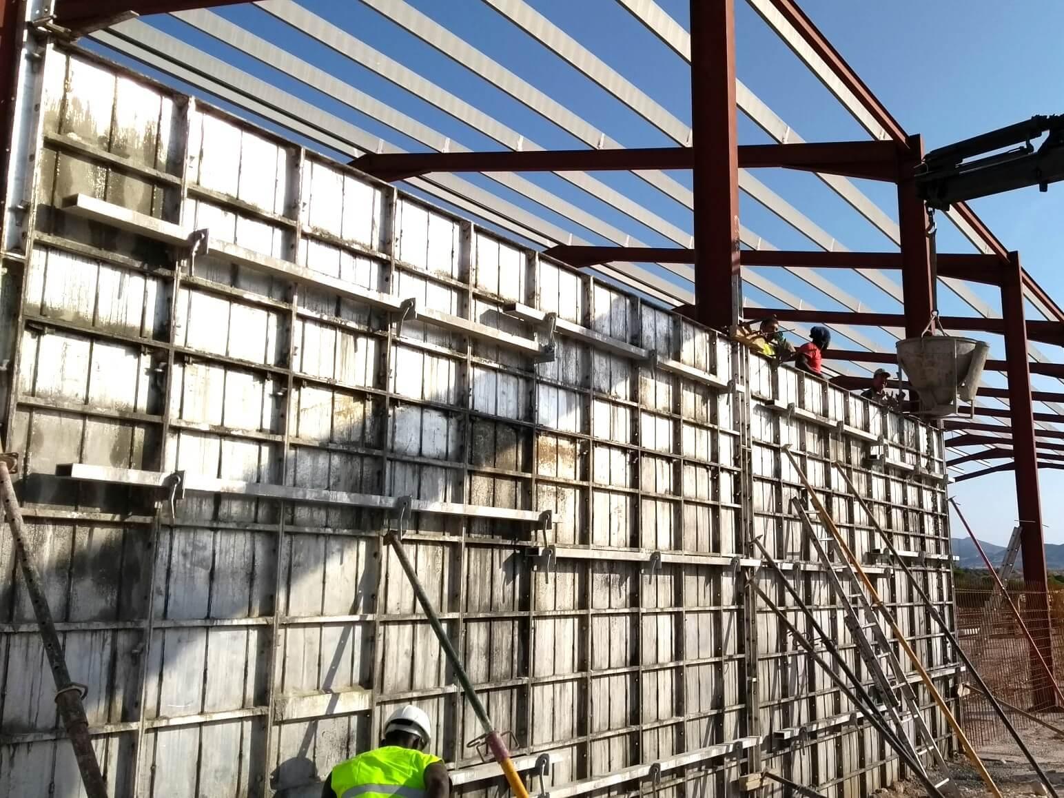 proyecto nave industrial encofrados de aluminio construccion strong forms alicante 3