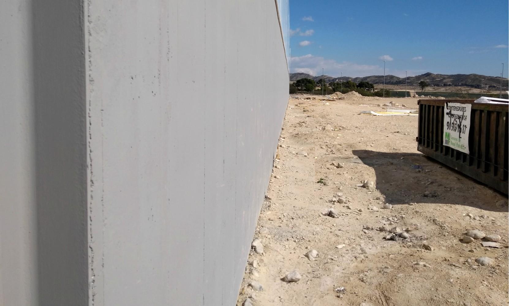encofrados de aluminio strong forms en nave industrial alumed construcción industrializada masiva alicante muro